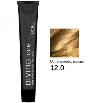 Краска для волос 12.0 Divina. one 60ml  Ультра блонд натуральный