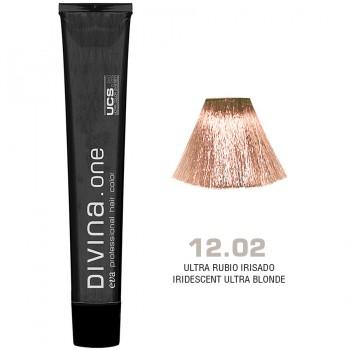 Краска для волос 12.02 Divina. one 60ml  Ультра блонд натуральный