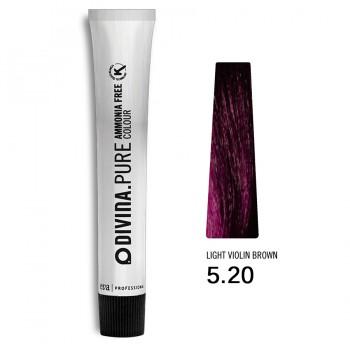 Краска для волос 5.20 Divina.Pure 60ml Светлый шатен фиолетовый
