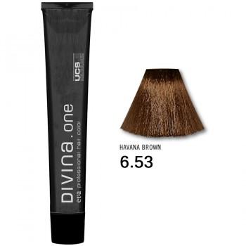 Краска для волос 6.53 Divina. one 60ml Темно-русый красно-золотистый