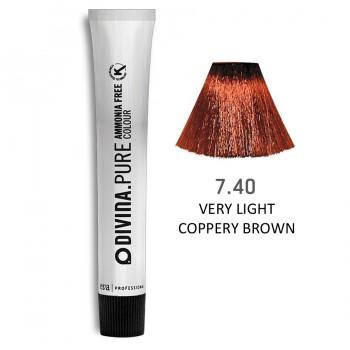 Краска для волос 7.40 Divina.Pure 60ml Русый медный