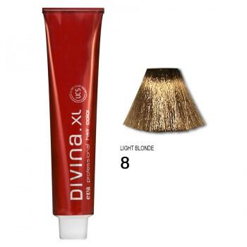 Краска для волос 8 Divina. XL 120ml Светло-русый натуральный