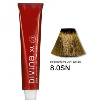 Краска для волос 8.0SN Divina. XL 120ml Светло-русый натуральный теплый