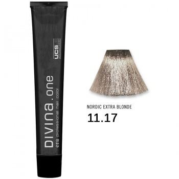 Краска для волос 11.17 Divina. one 60ml Светлый блонд пепельно-перламутровый