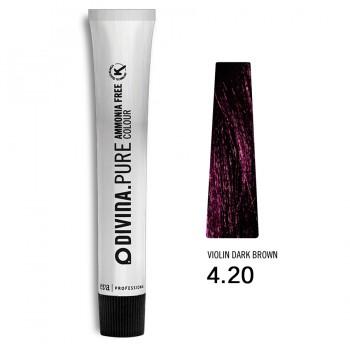 Краска для волос 4.20 Divina.Pure 60ml Шатен фиолетовый