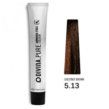 Краска для волос 5.13 Divina.Pure 60ml Светлый шатен пепельно-золотыстий