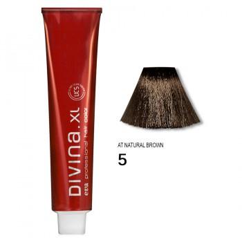Краска для волос 5AT Divina. XL 120ml Светлый шатен для седины