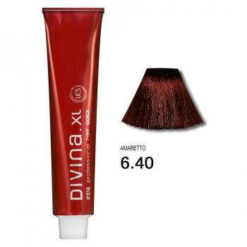 Краска для волос 6.40 Divina. XL 120ml Темно-русый медный