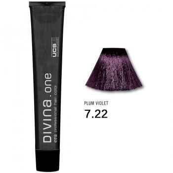 Краска для волос 7.22 Divina. one 60ml Русый интенсивно фиолетовый