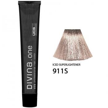 Краска для волос 911S Divina. one 60ml Супер блонд интенсивно пепельный