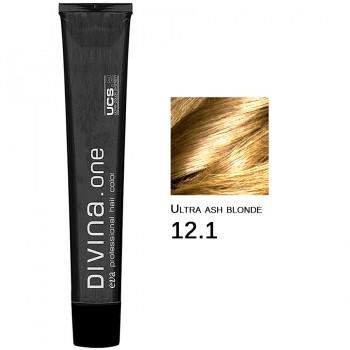 Краска для волос 12.1 Divina. one 60ml Ультра блонд пепельный