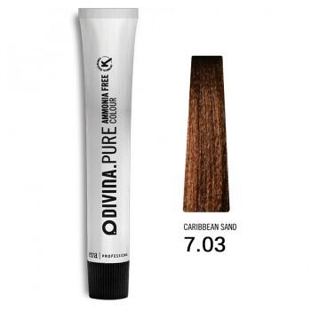 Краска для волос 7.03 Divina.Pure 60ml Русый натуральный золотистый