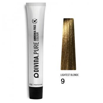 Краска для волос 9 Divina.Pure 60ml Темный блонд натуральный