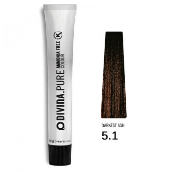 Краска для волос 5.1 Divina.Pure 60ml Светлый шатен пепельный