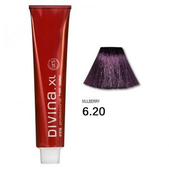 Краска для волос 6.20 Divina. XL 120ml Темно-русый фиолетовый