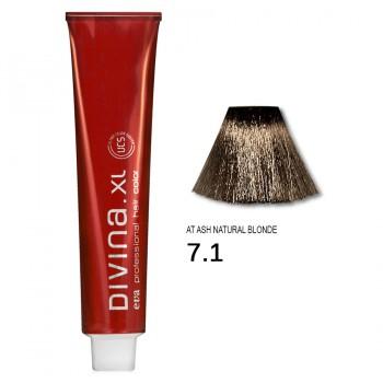 Краска для волос 7.1AT Divina. XL 120ml Русый пепельный для седины