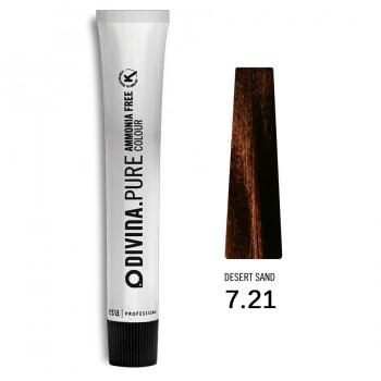 Краска для волос 7.21 Divina.Pure 60ml Русый фиолетово-пепельный