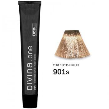 Краска для волос 901S Divina. one 60ml Супер блонд натуральный пепельный