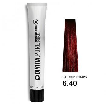 Краска для волос 6.40 Divina.Pure 60ml Темно-русый медный