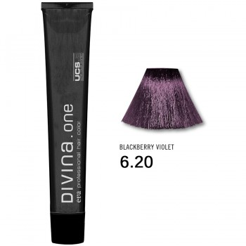 Краска для волос 6.20 Divina. one 60ml Темно-русый фоилетовый