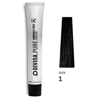Краска для волос 1 Divina.Pure 60ml Черный