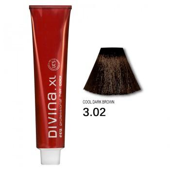 Краска для волос 3.02 Divina. XL 120ml Темный шатен холодный коричневый