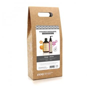 Набор витамин шампунь апельсин и витаминный крем Pack Vtamin Recharge limited edition 500ml+250ml