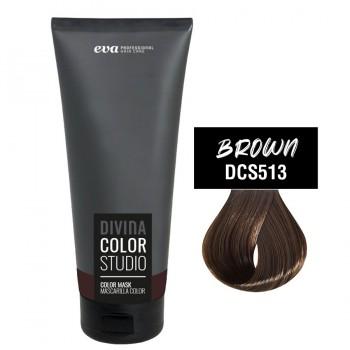 Тонирующая маска для волос Divina Color Studio brown (коричневый)