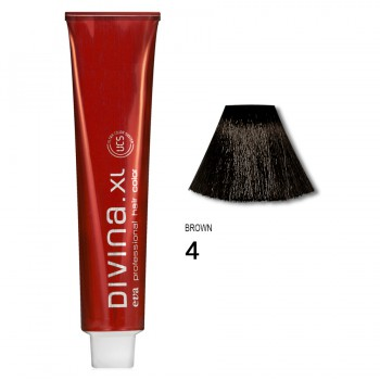 Краска лдя волос 4 Divina. XL 120ml Шатен