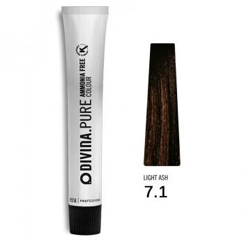 Краска для волос 7.1 Divina.Pure 60mll Русый пепельный