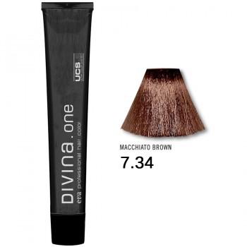 Краска для волос 7.34 Divina. one 60ml Русый медно-золотистый