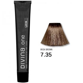 Краска для волос 7.35 Divina. one 60ml Русый золотисто-красный