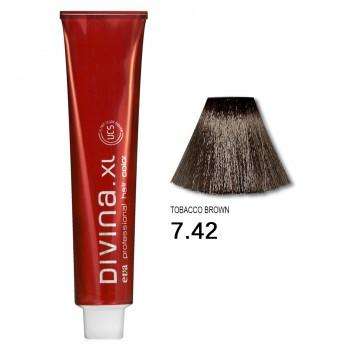 Краска для волос 7.42 Divina. XL 120ml Русый холодный медный