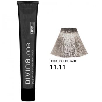 Краска для волос 11.11 Divina. one 60ml Светлый блондин интенсивно пепельный