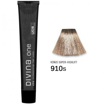 Краска для волос 910S Divina. one 60ml Супер блонд пепельный
