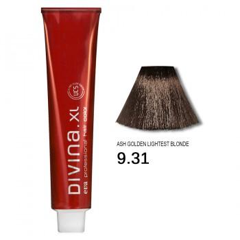 Краска для волос 9.31 Divina. XL 120ml Темный блондин золотисто-пепельный