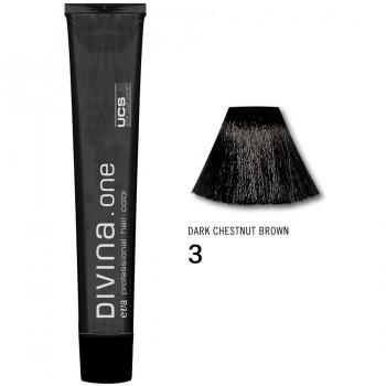 Краска для волос 3 Divina. one 60ml Темный шатен натуральный