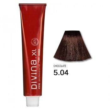 Краска для волос 5.04 Divina. XL 120ml Светлый шатен натуральный медный