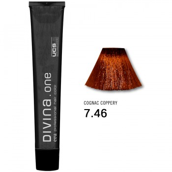 Краска для волос 7.46 Divina. one 60ml Русый медно-красный темный
