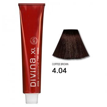 Краска для волос 4.04 Divina. XL 120ml Шатен натуральный медный