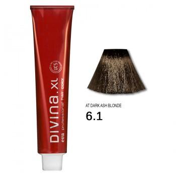 Краска для волос 6.1AT Divina. XL 120ml Темно-русый для седины