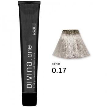 Краска для волос 0.17 Divina. one 60ml Микстон серебристый