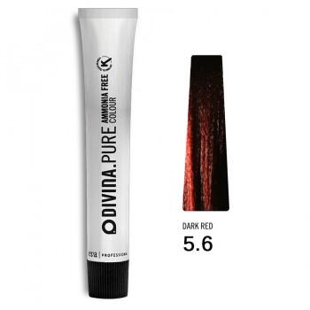 Краска для волос 5.6 Divina.Pure 60ml Светлый шатен красный