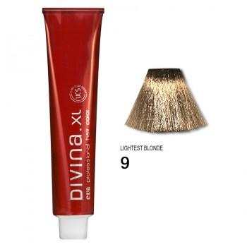 Краска для волос 9 Divina. XL 120ml Темный блондин натуральный