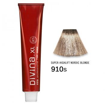 Краска для волос 910S Divina. XL 120ml Суперосветлитель пепельный