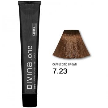 Краска для волос 7.23 Divina. one 60ml Русый фиолетово-золотистый