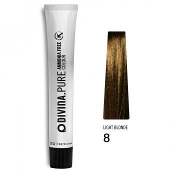 Краска для волос 8 Divina.Pure 60ml Светло-русый натуральный