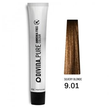 Краска для волос 9.01 Divina.Pure 60ml Темный блонд натуральный пепельный