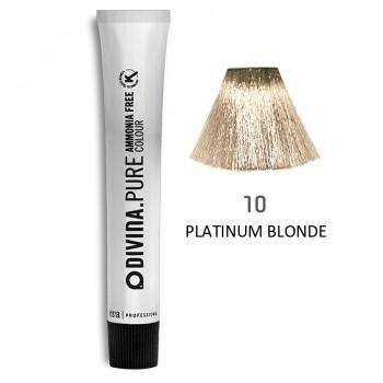Краска для волос 10 Divina.Pure 60ml Блонд натуральный