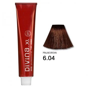 Краска для волос 6.04 Divina. XL 120ml Темно-русый натуральный медный